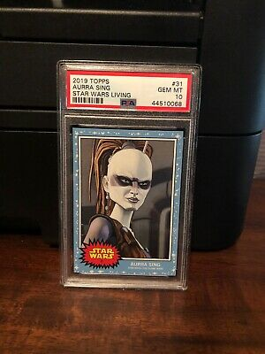 2019 Topps Star Wars Living Set Aurra Sing #31 PSA 10 Gem Mint