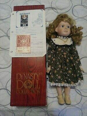 "Great Christmas Gift 20/"" holidays Porcelain Hope Poinsettia Doll Not a Toy 20132"