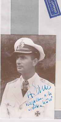 "Signed photo & letter Oblt. zur See  Alfred Eick-Kdt. ""U510""-Knights Cross"