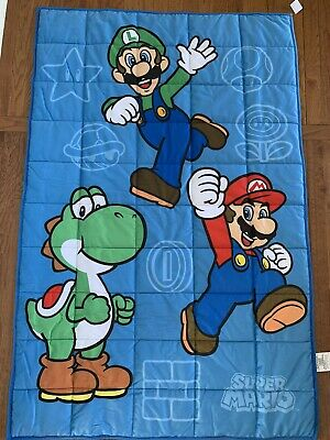 Licensed Childrens SUPER MARIO Weighted Blanket 4.5 Pounds Super Soft! 36x48