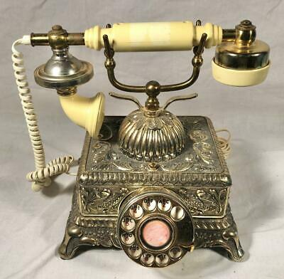 Vintage Ornate French European Style Rotary Dial Telephone Model 637512