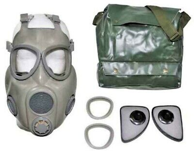 New Czech Military Surplus Gas Mask With Bag & Extra Filters