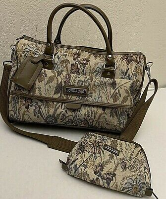 Jordache Womens Tapestry Tote Duffle Bag Overnight Canvas Carry On Travel case