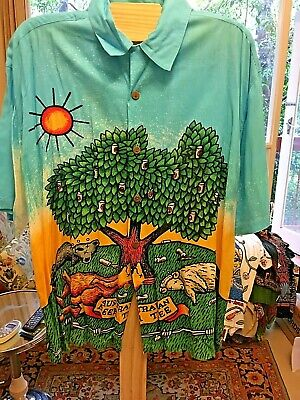 MAMBO Loud Shirt XL Aussie Beer Tree - Made in Indonesia
