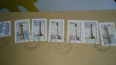Lot Timbres France 2019 Les Phares Serie 6 Timbres Autoadhesifs Obliteres Rond
