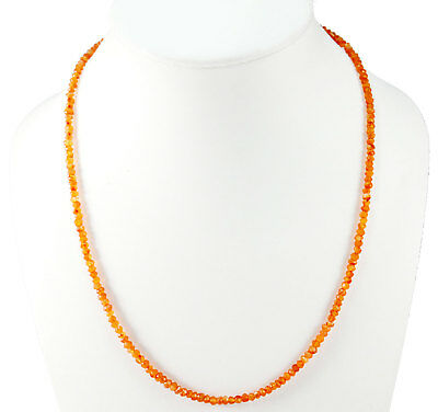3-4MM Natural Carnelian Gemstone Rondelle Faceted Beads Beaded Jewelry Necklace