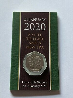 1 x Brexit 50p Strike Your Own 2020 50p Coin 31st January Dated Packaging