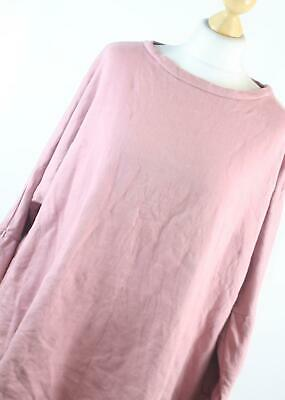 Pretty Little Thing Pink Cotton Womens Jumper Size 16 (Regular)
