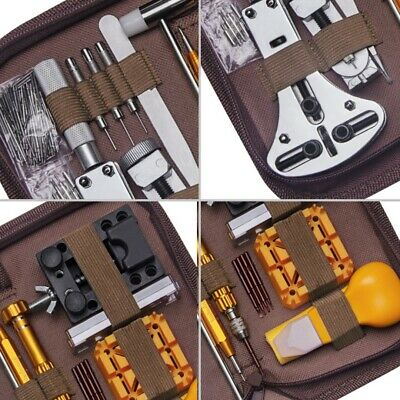 149Pcs Profession Watch Repair Tool Kit Band Link Pin Remover Case Spring Bar UK