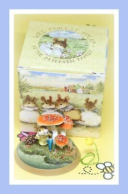 ❤️Wee Forest Folk PM-5 Raindrops 2001 Mushroom Millpond Mice Mouse Retired❤️
