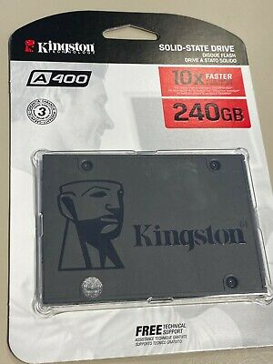 "Kingston A400 240 GB 2.5"" Internal Solid State Drive - SATA - 500 MB/s Maximum R"