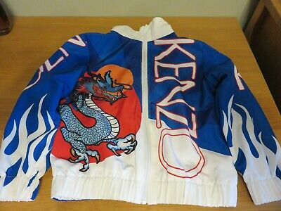 "KENZO Kids Janick ""Dragon"" Tracksuit Jacket - Blue/White - Age 6 Yrs  NEW + Tags"