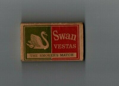 Old Vintage Swan Vesta Matchbox  Bryant & May British Made - 5d - Early 1960's