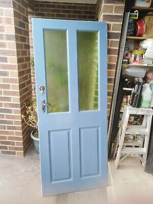 Front door. Solid timber red cedar 803 wide x 1945 high  double deadlock and key