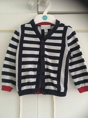 the little white company Nautical Cardigan 9-12 Months 100% Cotton