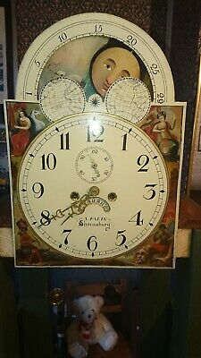 LONGCASE GRANDFATHER CLOCK moonphase dial & movement   spare or repairs