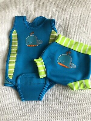 Baby Swimming Costume Aquajoy Warmsy Newborn and Kids Toddler Extra Warm Infant 2 in 1 Design Baby Warm Swimsuit Premium Reversible Baby//Baby Swimsuit Boy and Girl Wet Suit