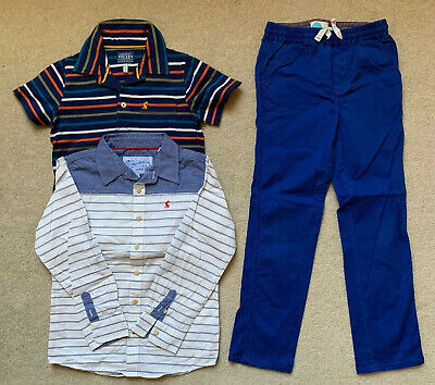 Boy's Joules & Boden Mini Bundle Trousers Shirt Polo Age 8 Years