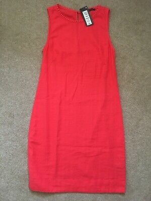 M&S Marks and Spencer Pink Linen Dress - Size 6 BNWT