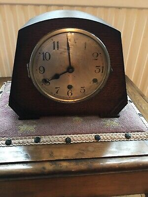 Vintage Chiming Mantel Clock With Key . Not Working