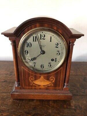 Antique Jerome & Co Striking Mantle Clock In Mahogany Case