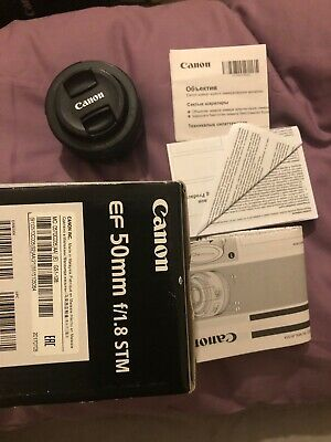 Canon EF 50 mm F/1.8 EF STM for Canon - Black And Boxed Mint Condition