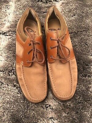 Mens Clarks Tan Nubuck Leather Lace Up Shoes Leather Lined Uk Size 10.5