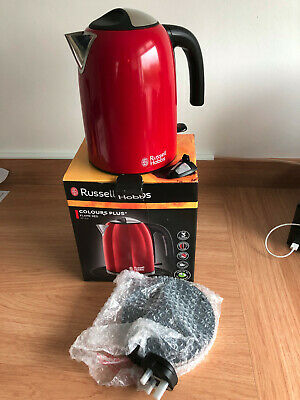 Russell Hobbs 20412 Colour Plus 3000W 1.7 L Kettle - Flame Red