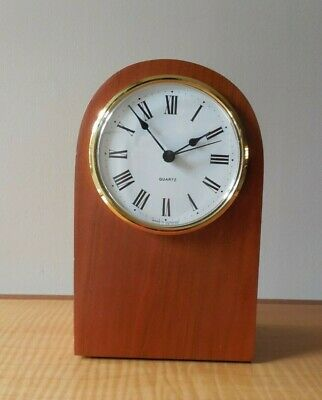 Arched, Mahogany Cased Mantle Clock, Made in Germany, Quartz Movement