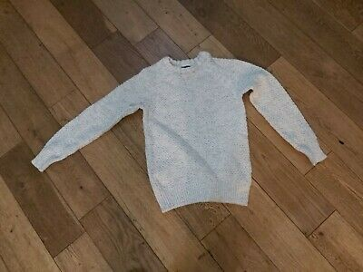 Next Boys Jumper 10 Years white and grey fleck
