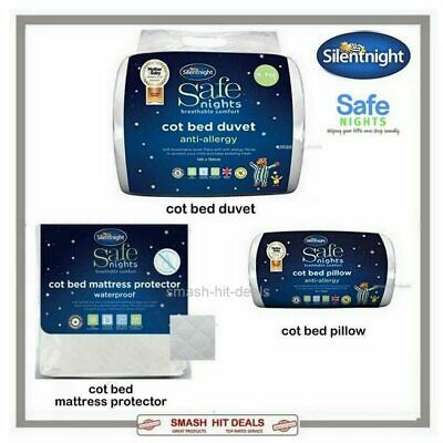 Silentnight Cot Bed Toddler Baby Protector OR Duvet OR Pillow Anti Allergy NEW