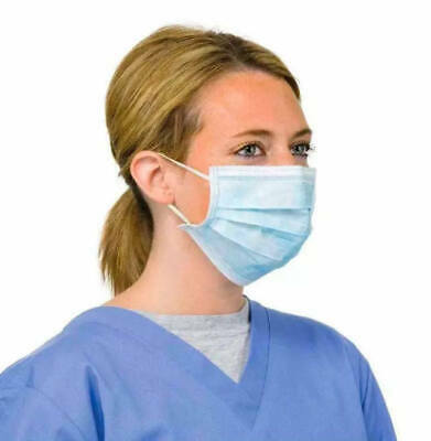 10 x Disposable Face Surgical Medical Mask Dental Anti Dust Flu Mouth Face