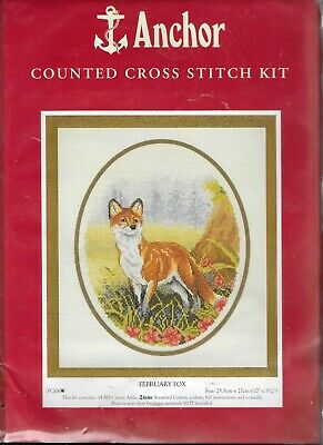 Anchor Counted Cross Stitch Kit February Fox PCE835 New Sealed