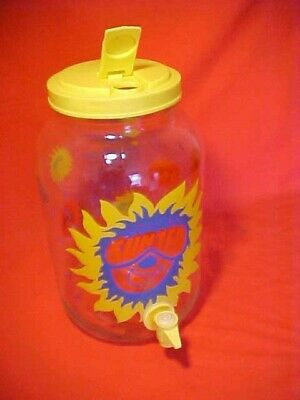 Fun & WILD Sun Tea Jar Gallon Glass Jug COLORFUL Beverage Dispenser Tea Recipe