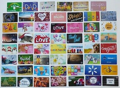 WALMART Gift Card LOT of 55 Diff - Easter, Mom, Dad, Love- Collectible No Value