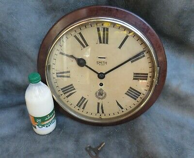 A Good Smiths 8 Day Bakelite And Wood Cased Wall Clock With Raf Logo *Serviced*