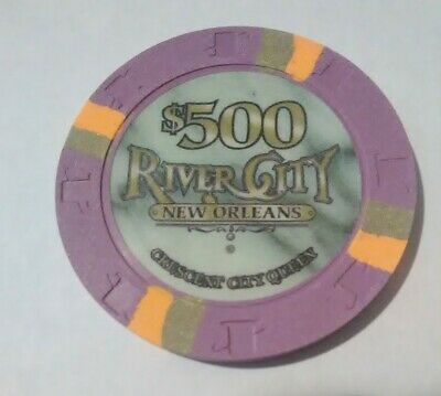 River City Casino New Orleans $500.00 Cancelled Chip Great For Any Collection!