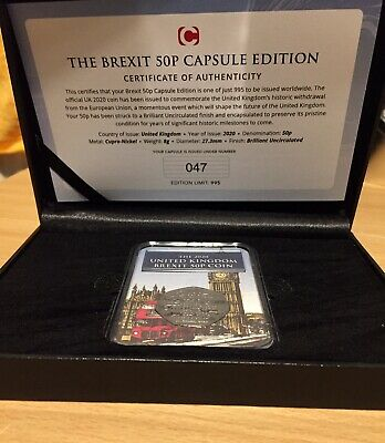 Withdrawal from the European Union 2020 The Brexit 50p Capsule Edition COA 47