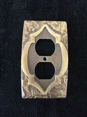 Vintage Amerock Monterey metal outlet cover *  has medieval keyhole look