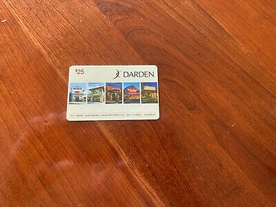 OLIVE GARDEN/DARDEN $25 Gift Card. Activated & Ready to Use. Use @ 5 Restaurants