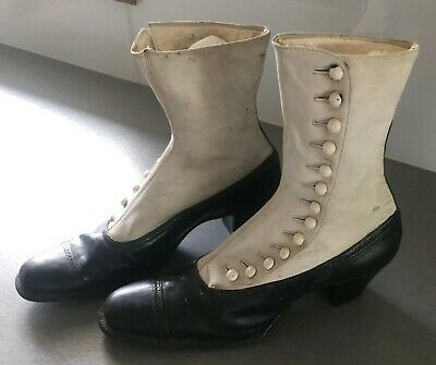 Vintage Ladies Leather Button up Boots