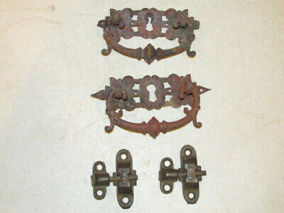 Antique Lot of Hardware From 2 Draw Vanity Stand with Mirror VGC