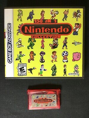 150 in 1 Nintendo NES Collection For GBA Game Boy Advance With Case TESTED 90's