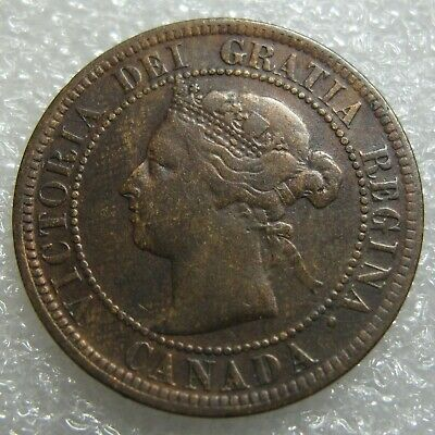 "1891 ""Small Date & Small Leaves""  SD SL Canada Canadian Large Cent"