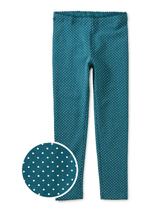 Tea Collection Girls Size 12 Core Pin Drop Oasis Leggings New With Tags