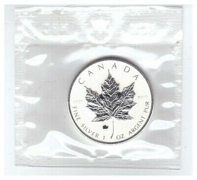 2009  CANADA  1 oz .9999 SILVER Reverse Proof $5 MAPLE LEAF with OX PRIVY MARK