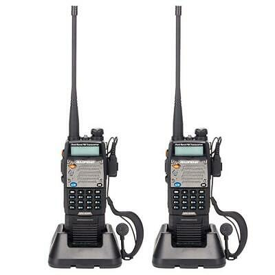 2PCS BAOFENG UV-5XP 3000mAh 8W/5W/1W Dual-band Long Range Walkie Talkie