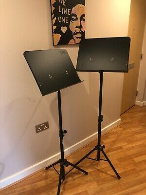 TWO Tiger Orchestral Sheet Music Stand With Height and Angle Adjustment