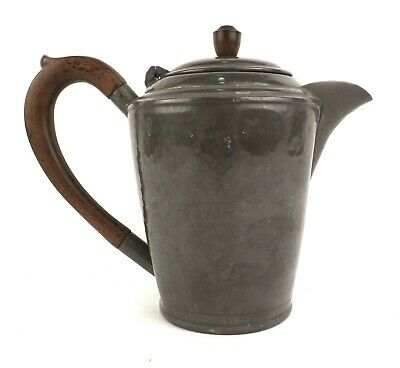 Antique Pewter Coffee Jug Arts and Crafts Hand Hammered My Lady England 1920