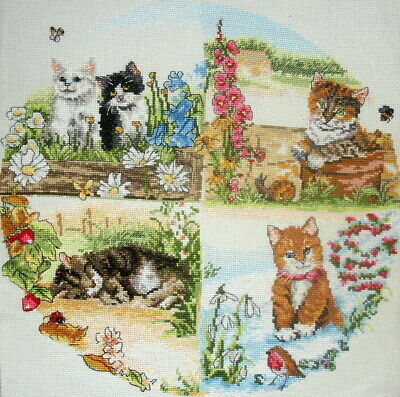 Anchor Counted Cross Stitch Unframed Tapestry Picture Cats & Seasons